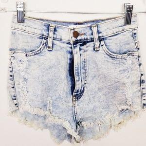 Vibrant Jean Shorts